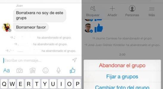 messenger facebook borrar