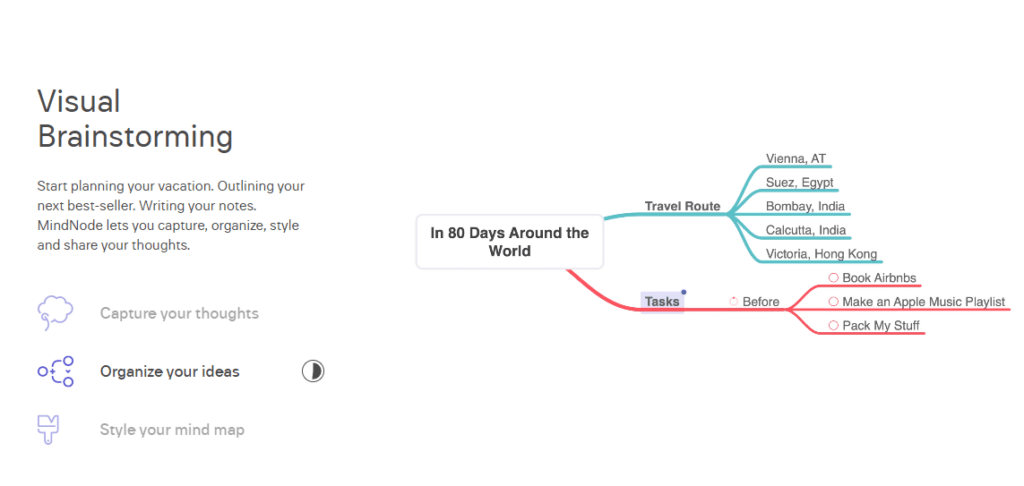 Demo de mapa mental de Mindnote