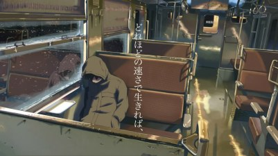 Konachan.com - 38384 all_male brown_hair byousoku_5_centimetre comix_wave male shinkai_makoto snow toono_takaki train