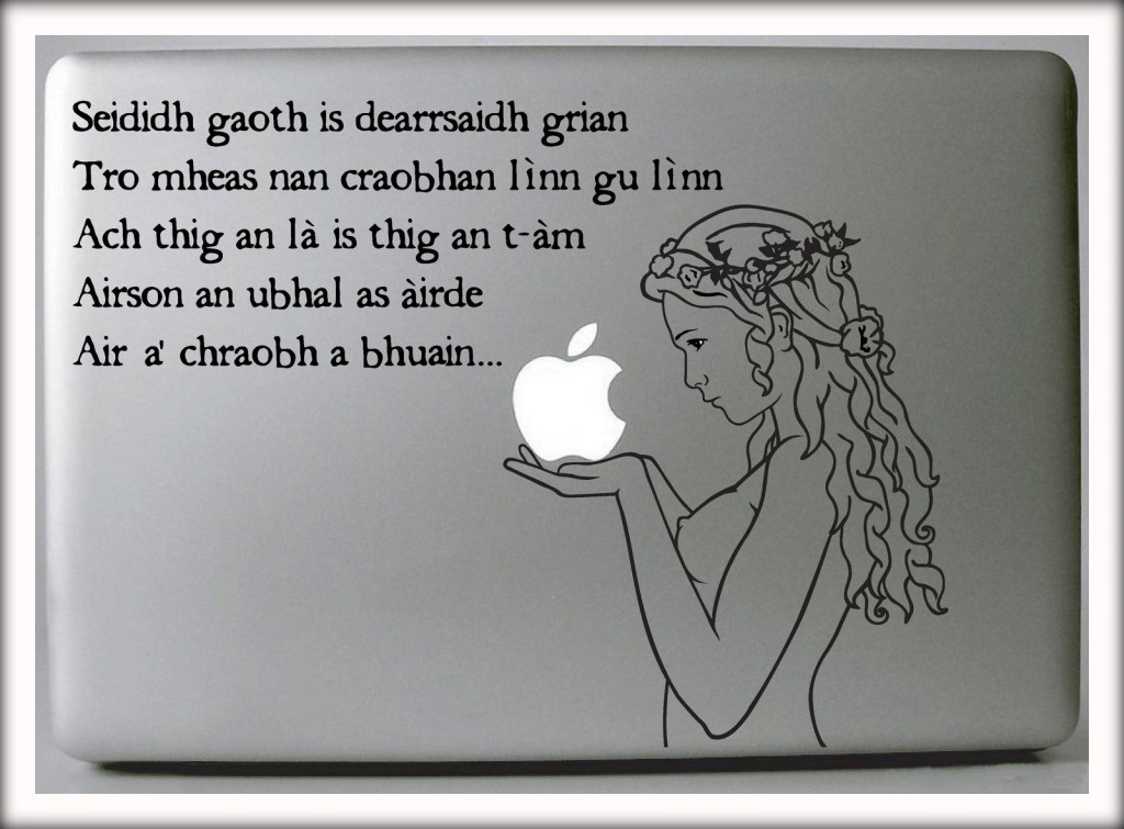 Gaelic Laptop Decal by Suzie Automatic