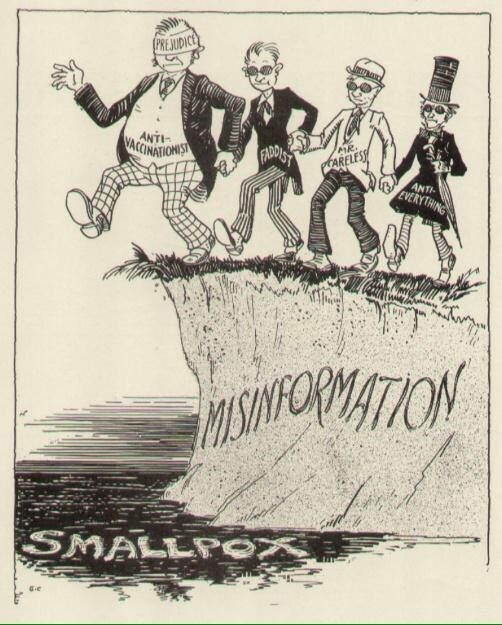 1920s anti-vaxxer cartoon