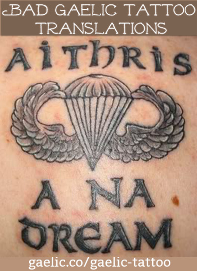 """Report to the People"" instead of ""Family Tradition"" - A bad Gaelic tattoo translation"