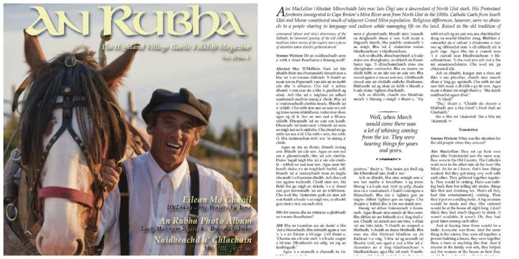 An Rubha, The Highland Village Museum's Gaelic Folklife Magazine