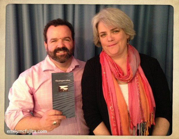 Lodaidh and Etta with Lodaidh's new book