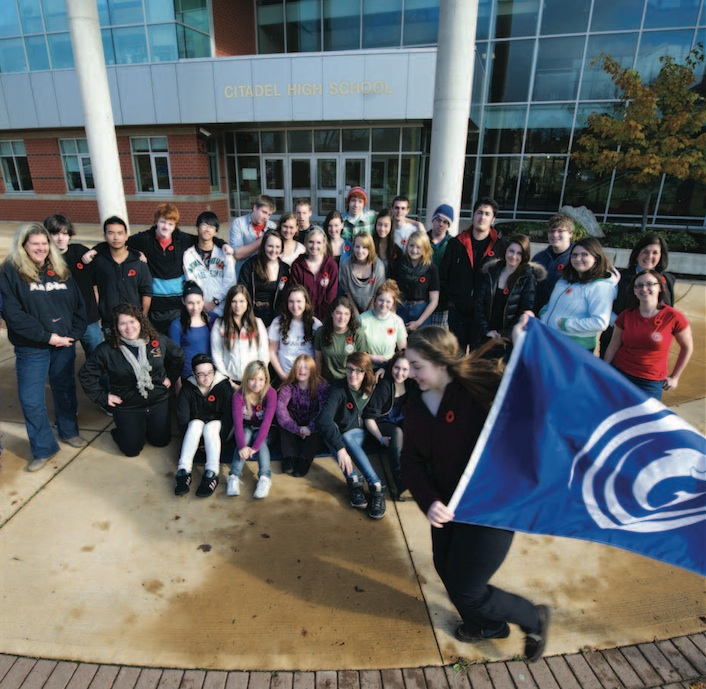Students taking Gaelic language and culture courses at Citadel High, Halifax. Source: Gaelic Affairs 2012 Gaelic Calendar