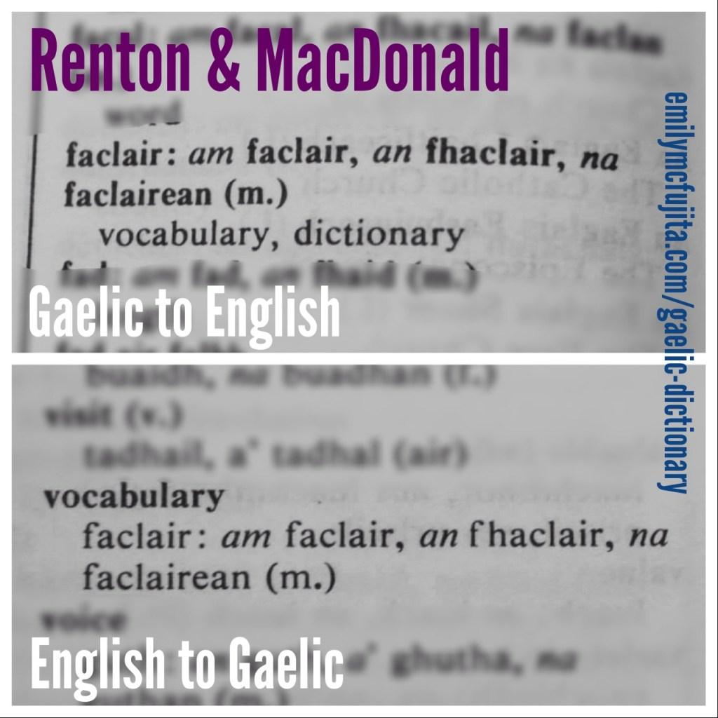Renton & MacDonald's Gaelic dictionary