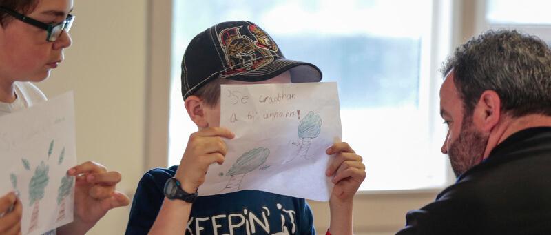 A Gaelic student in Halifax, Nova Scotia. Photo by Len Wagg, Communications Nova Scotia.