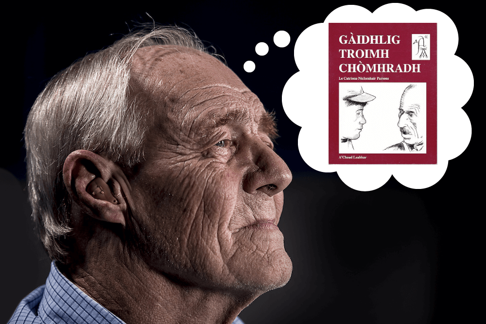 Man with a hearing aid thinks about learning Gaelic