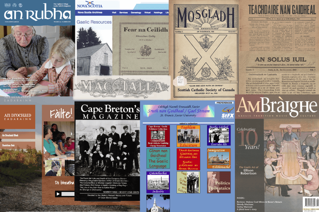 A collage of Nova Scotia Gaelic resources