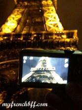 Eiffel Tower through the eye of a digital camera