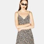 robe bershka leopard