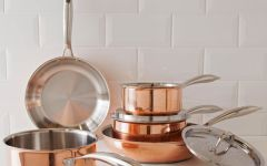argos copper pot selection