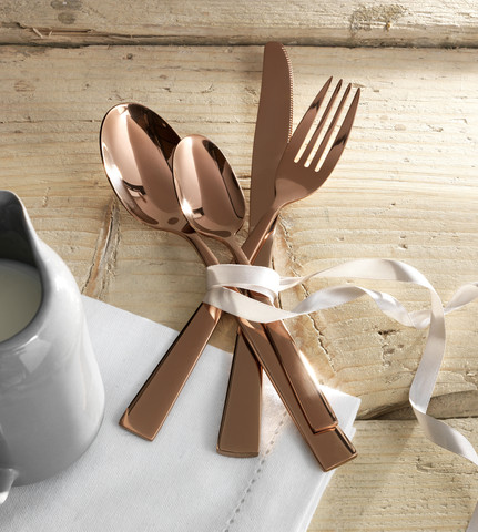 rose gold cutlery argos