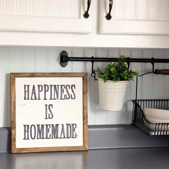 happiness is homemade wall print