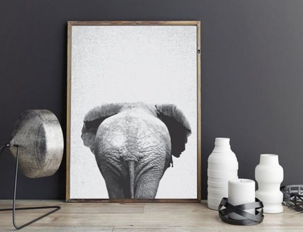 elephant bum print