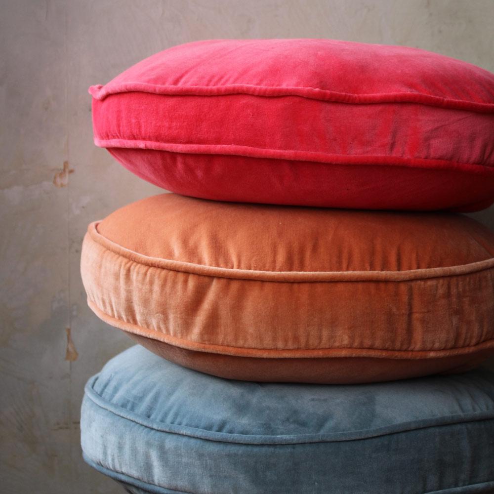 Velvet round cushion inspo