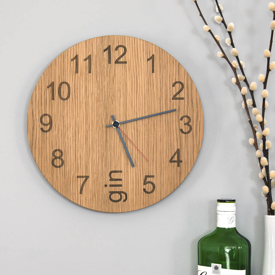 gin o'clock clock from james design, notonthehighstreet