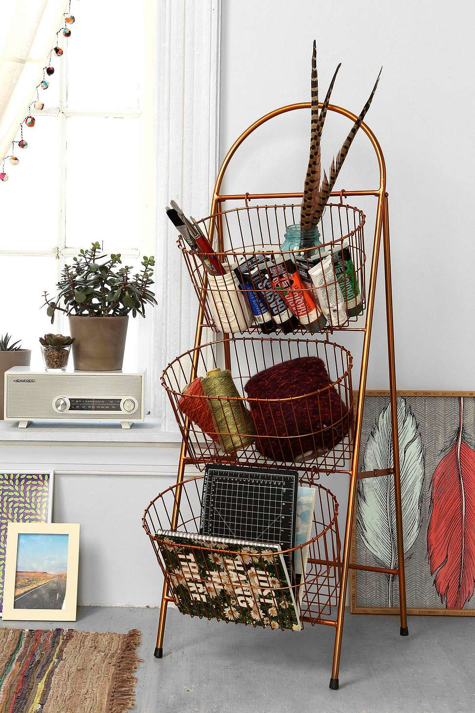 urban outfitters basket shelf sale
