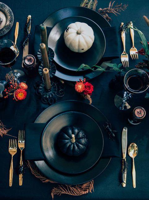 elle decor table dressing halloween dining table