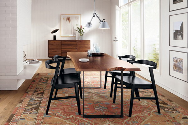 dining room furniture table and chairs black metal