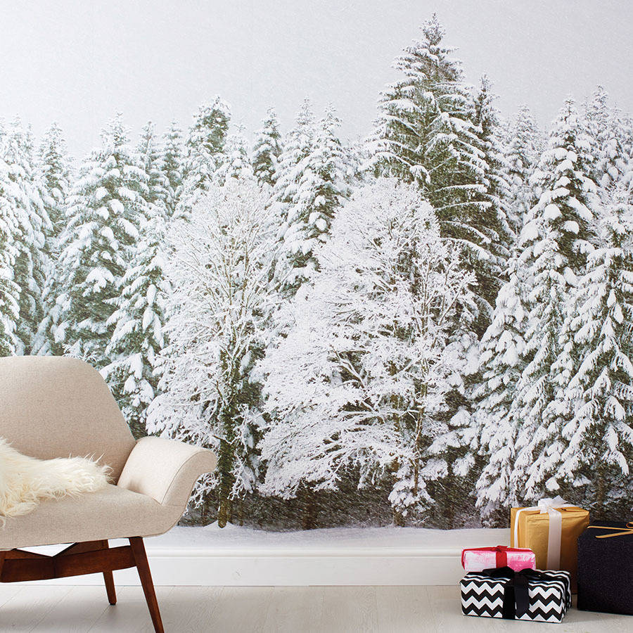 wallpaper mural christmas trees
