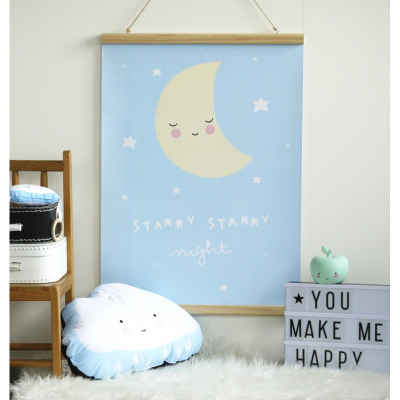 mopsy and lils children's room poster moon