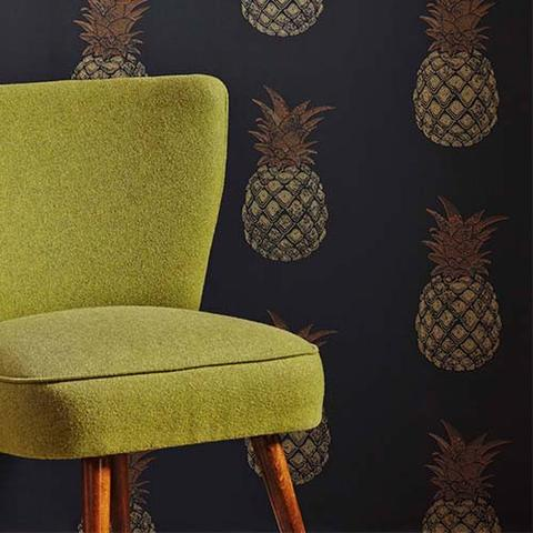 dust barneby gates wallpaper pineapples home office