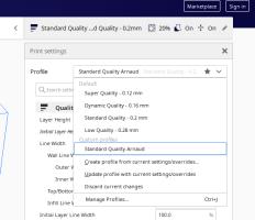 Cura - profils de qualité