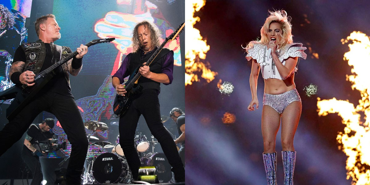 Image result for metallica lady gaga