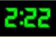 Image result for clock time 2:22