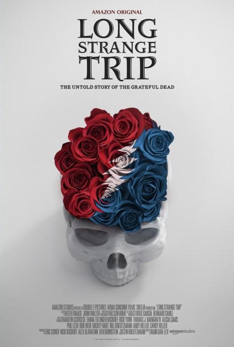 Fin lille plakat til koncertfilmen med The Grateful Dead