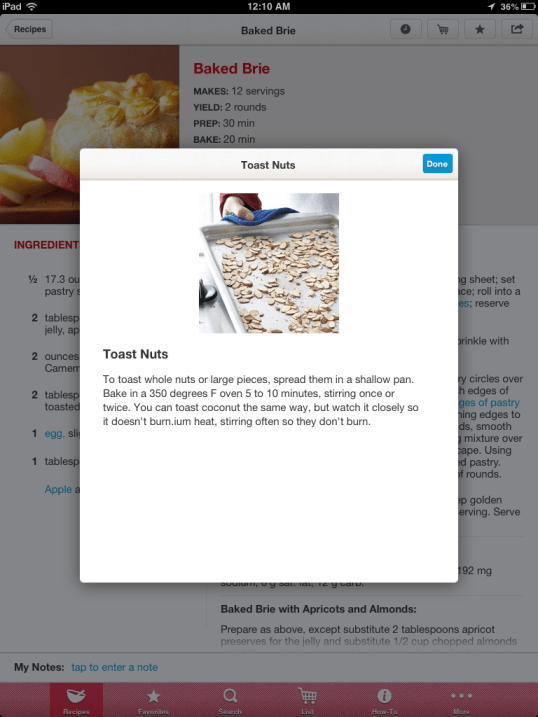 Better Homes and Gardens Recipes App Review, from a 13 part series on iPad apps by GagenGirls.com