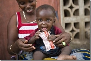 Plumpy Nut-Child Eating