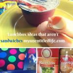 Lunchbox Ideas that Aren't Sandwiches {#12DaysOf School Lunches}