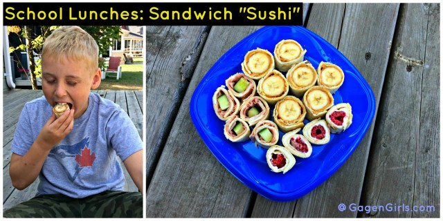 "School Lunches: Sandwich ""Sushi"" @GagenGirls.com"