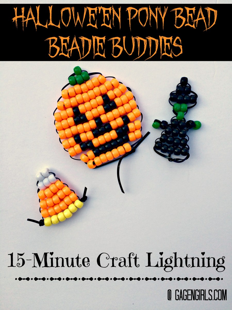 Hallowe'en Pony Bead Beadie Buddies {15-Minute Craft Lightning}