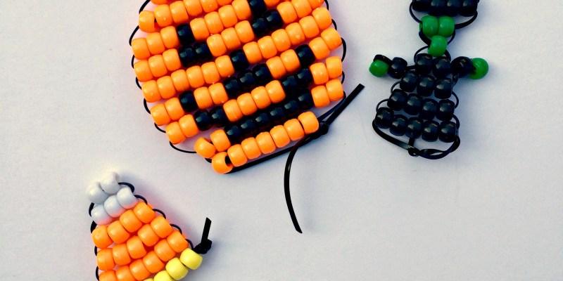 Hallowe'en Pony Bead Beadie Buddies 15-Minute Craft Lightning @ GagenGirls.com