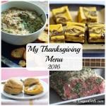 My Thanksgiving Menu {Recipe Roundup}
