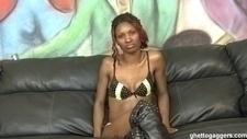 Ghetto Gaggers Heaven Cock Gagging Black Slut Cum Facial Video