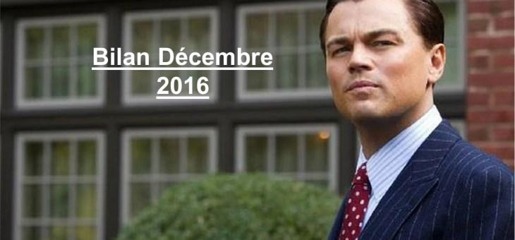 Bilan des Paris : Décembre 2016