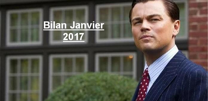 Bilan des Paris : Janvier 2017