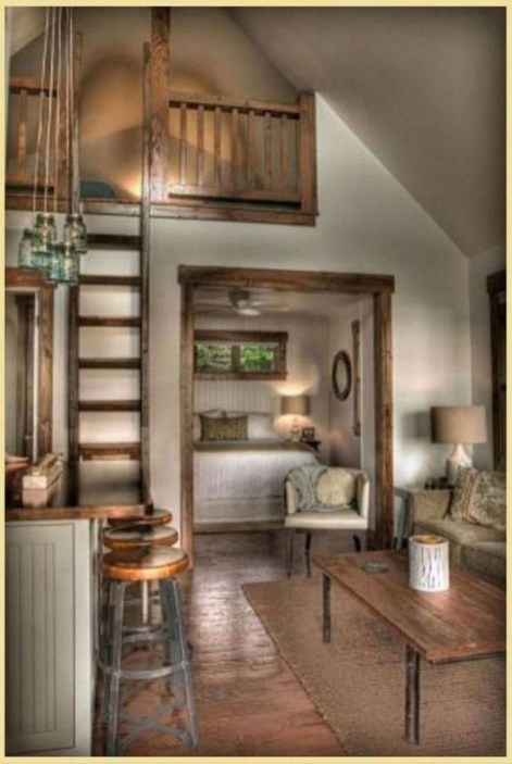 Adorable Cabin Style Ideas For Small House 16