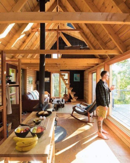 Adorable Cabin Style Ideas For Small House 24