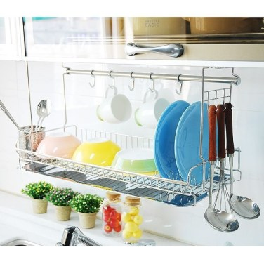 Beautiful Dish Rack Ideas For Your Small Kitchen 11