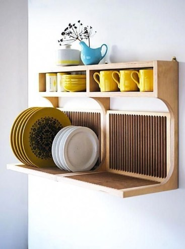 Beautiful Dish Rack Ideas For Your Small Kitchen 30