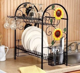 Beautiful Dish Rack Ideas For Your Small Kitchen 45