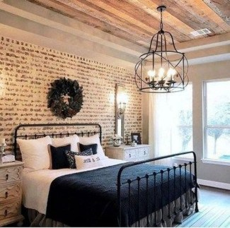 Captivating Farmhouse Bedroom Ideas 45