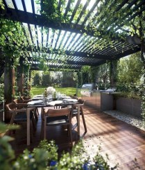 Wonderful Outdoor Dining Room Ideas With Rural Style 26