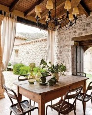 Wonderful Outdoor Dining Room Ideas With Rural Style 36