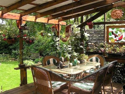 Wonderful Outdoor Dining Room Ideas With Rural Style 42